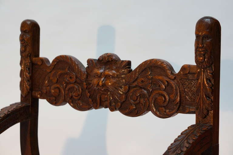 Italian Savonarola Armchairs In Good Condition For Sale In Antwerp, BE