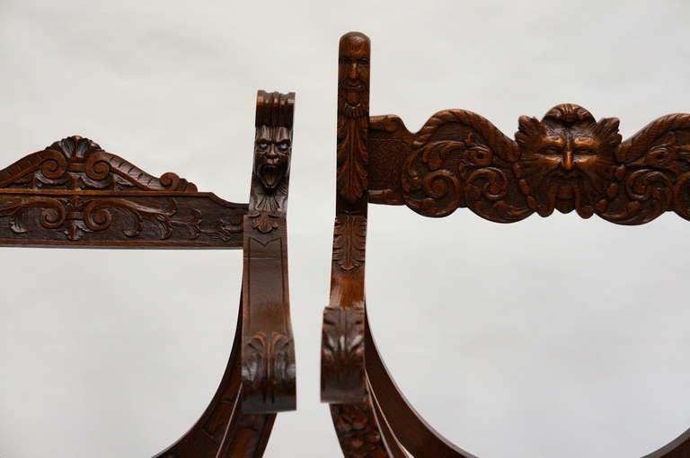 Italian Savonarola Armchairs For Sale 1