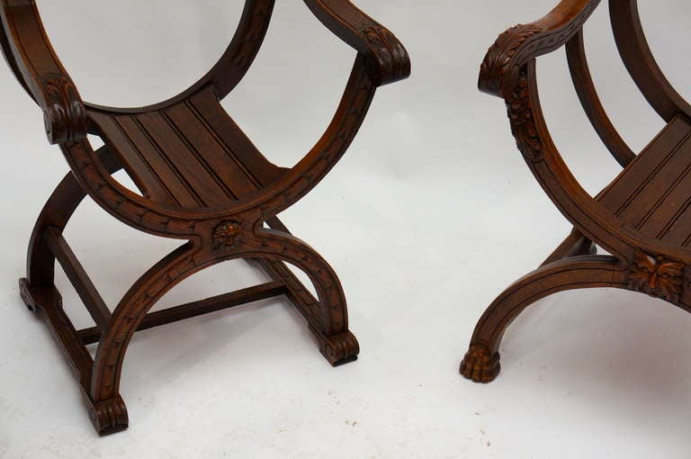 Italian Savonarola Armchairs For Sale 3