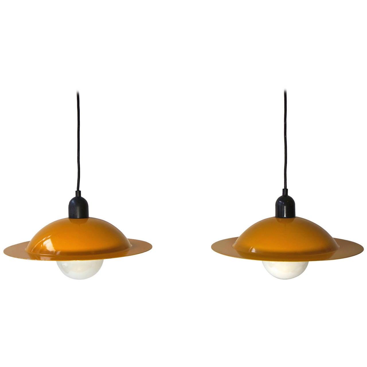 Pair Of Italian Ceiling Lights