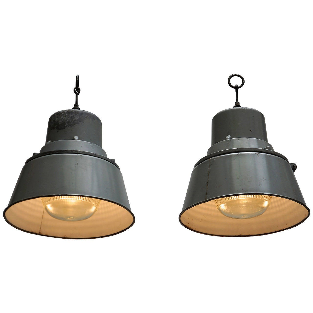 Two Industrial Ceiling Lights