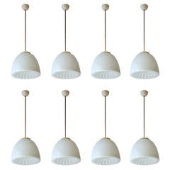 Set Of Eight Opalina Ceiling Lights