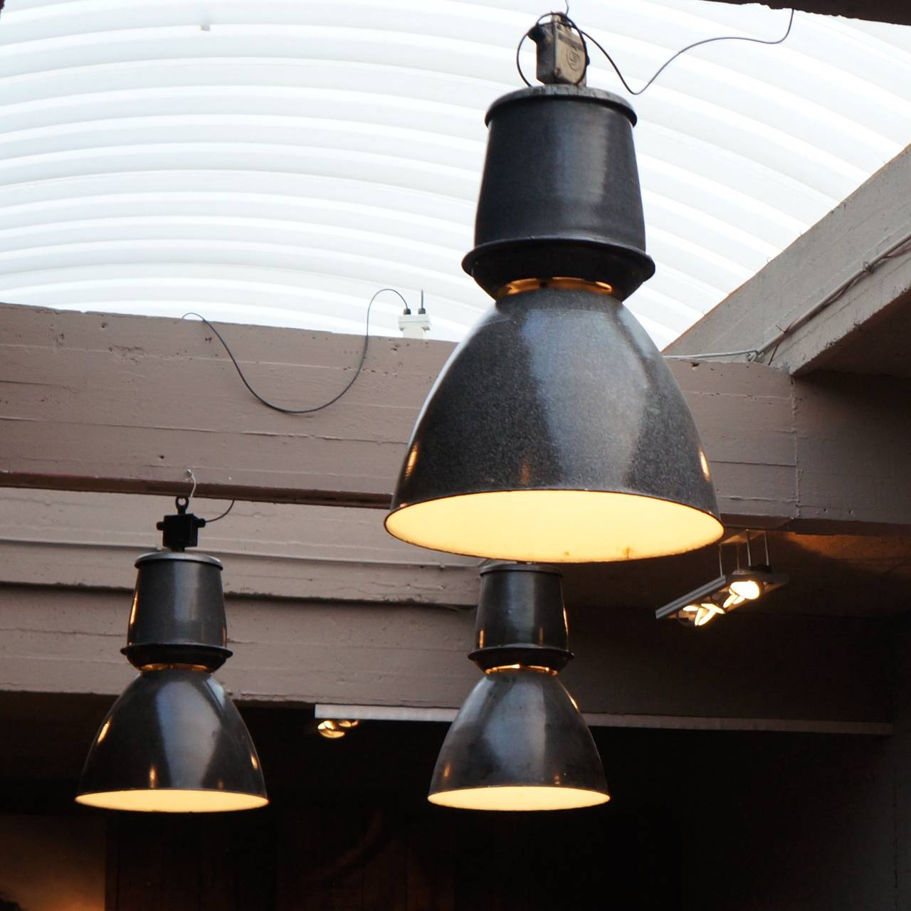 Sixteen giant industrial lights for sale at 1stdibs czech sixteen giant industrial lights for sale aloadofball Gallery