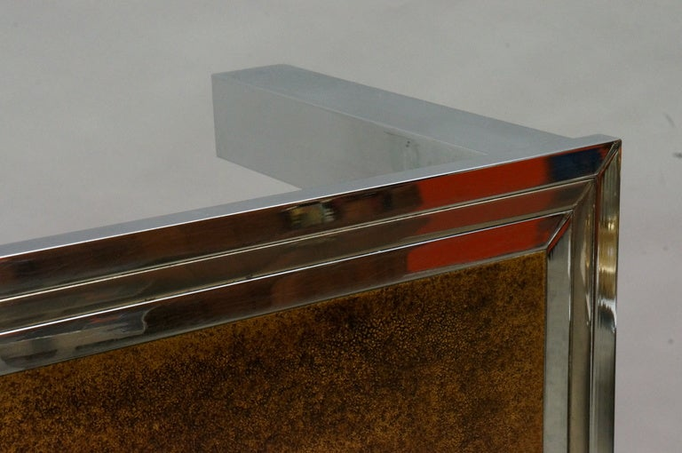 1960s Signed De Nisco Chrome and Enamel Coffee Table For Sale 2