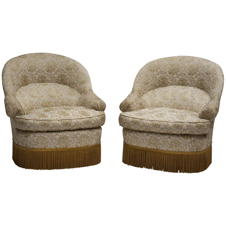 One of Two French Club or Lounge Chairs