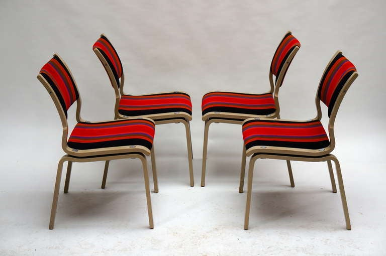 Four Multicolored Seventies Chairs In Good Condition For Sale In Antwerp, BE
