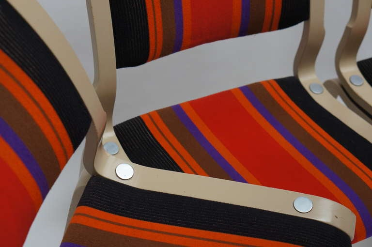 Four Multicolored Seventies Chairs For Sale 1
