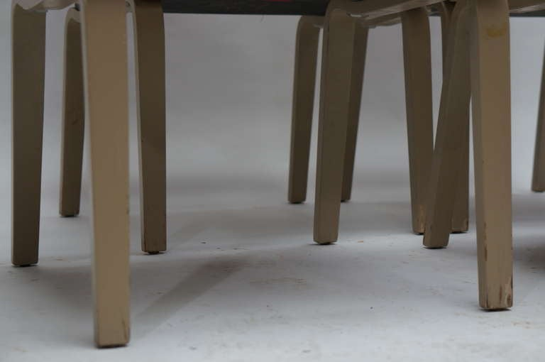 Four Multicolored Seventies Chairs For Sale 2