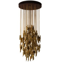 Impressive and Beautiful Italian Brass Chandelier