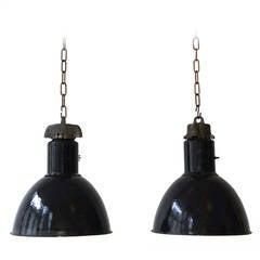 Pair of Industrial Pendant Lights