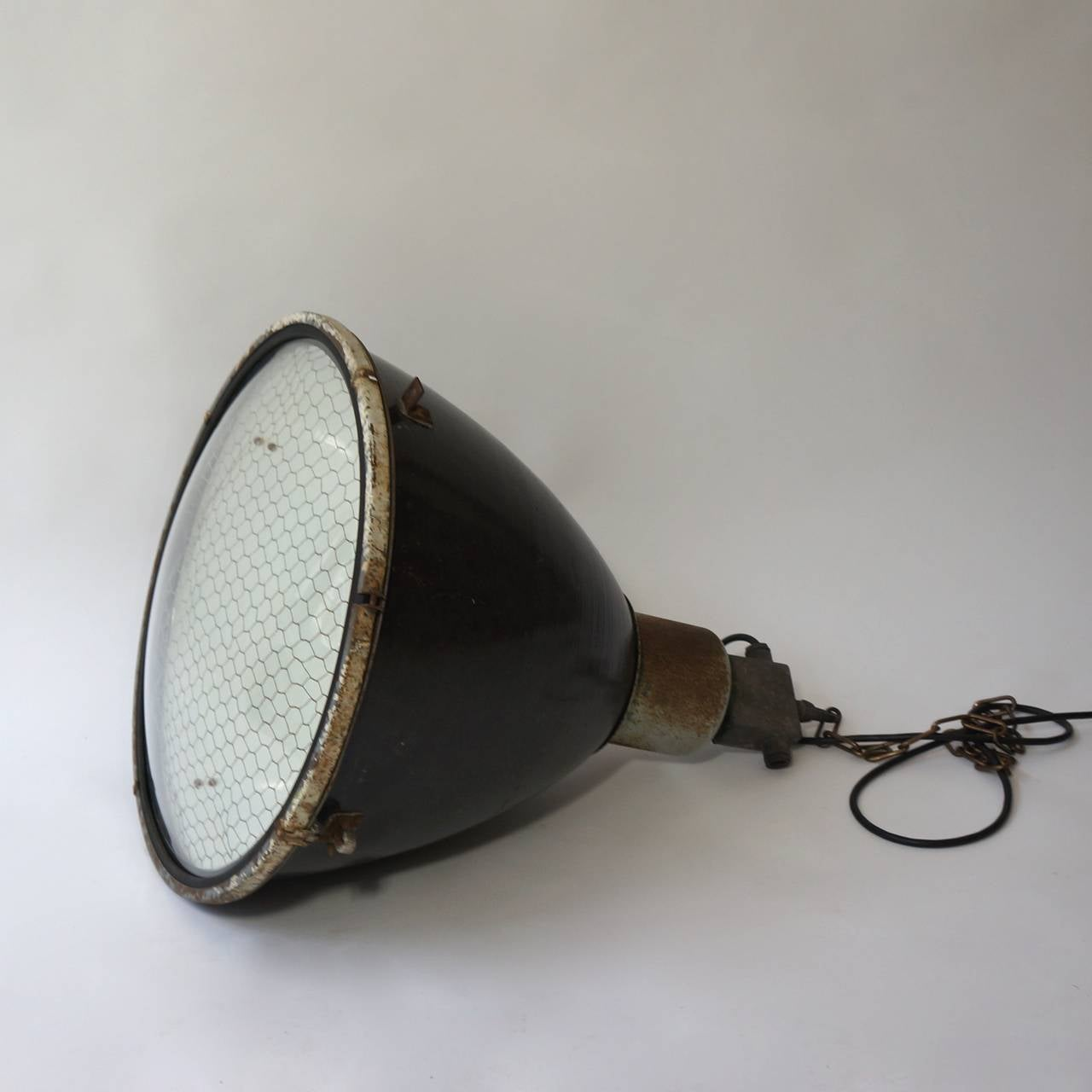 Large French Industrial Pendant Light At 1stdibs
