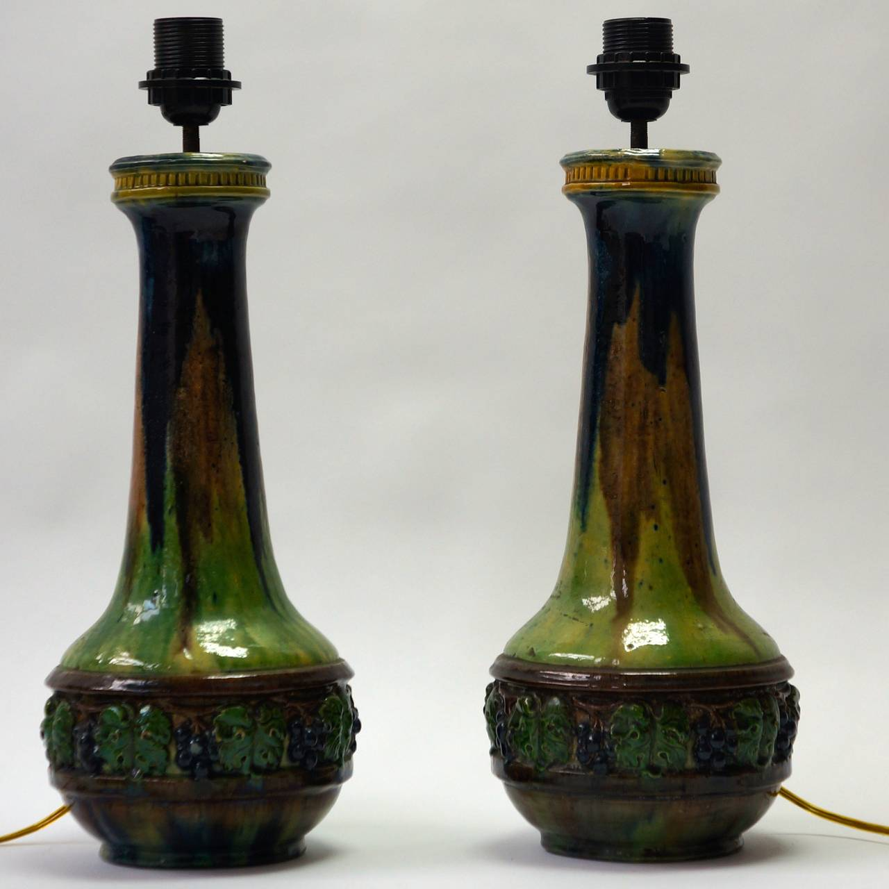 Pair of Ceramic Table Lamps In Excellent Condition For Sale In Antwerp, BE