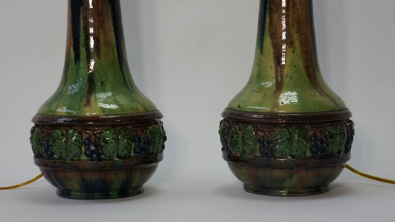 Pair of Ceramic Table Lamps For Sale 4