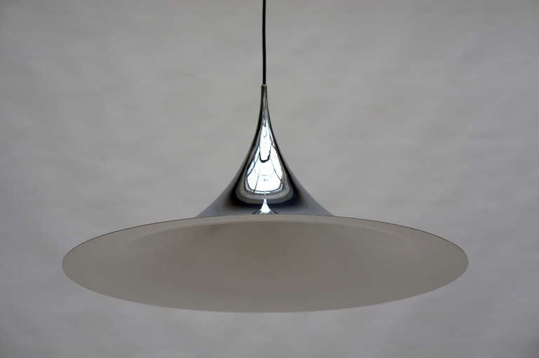 One of Two Huge Semi Pendal Ceiling Lights by Fog & Mørup For Sale 2