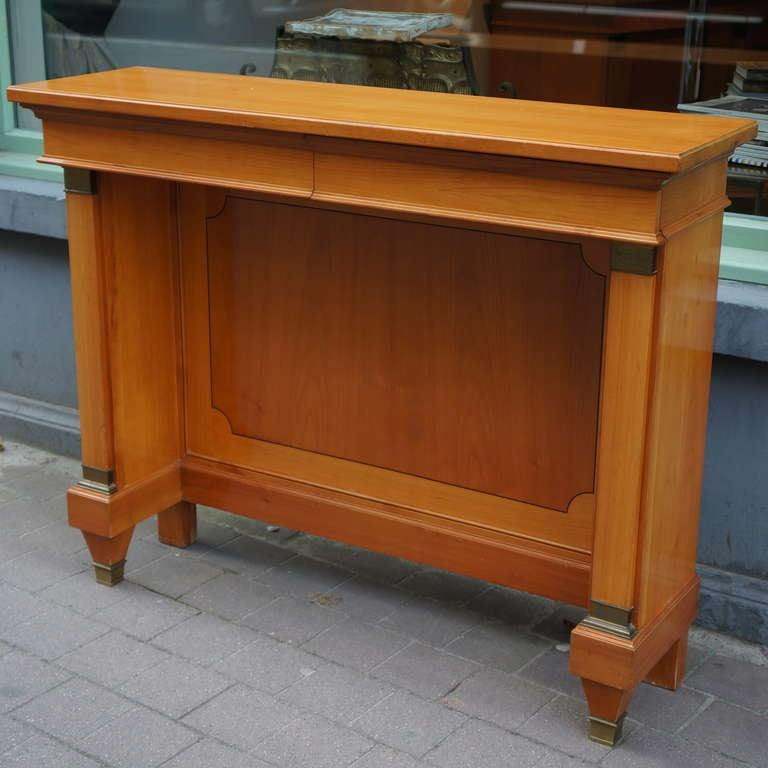 Belgian Fine  Cherry Wood 1950s Console For Sale