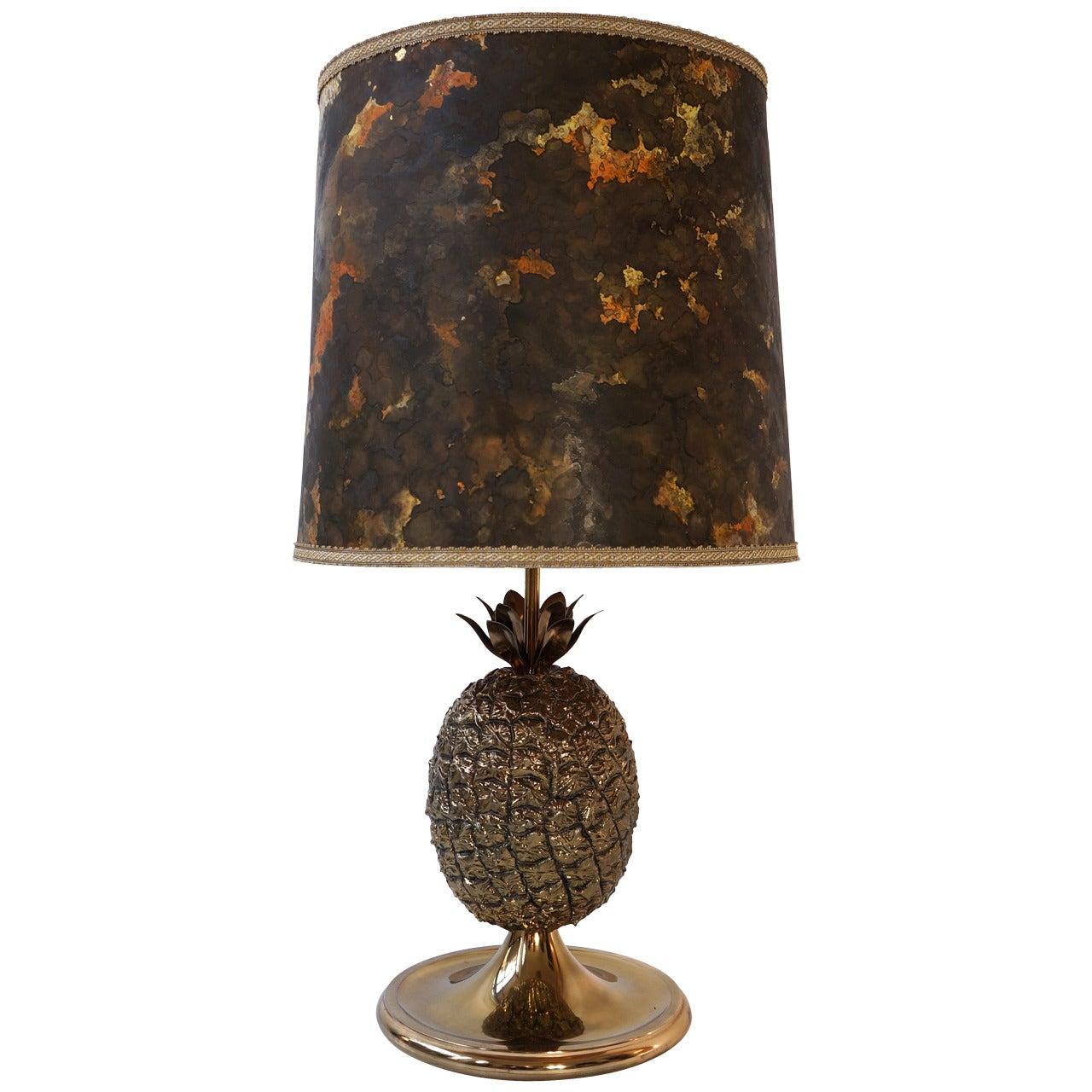 Hollywood Regency Pineapple Table Lamp, France, 1960s