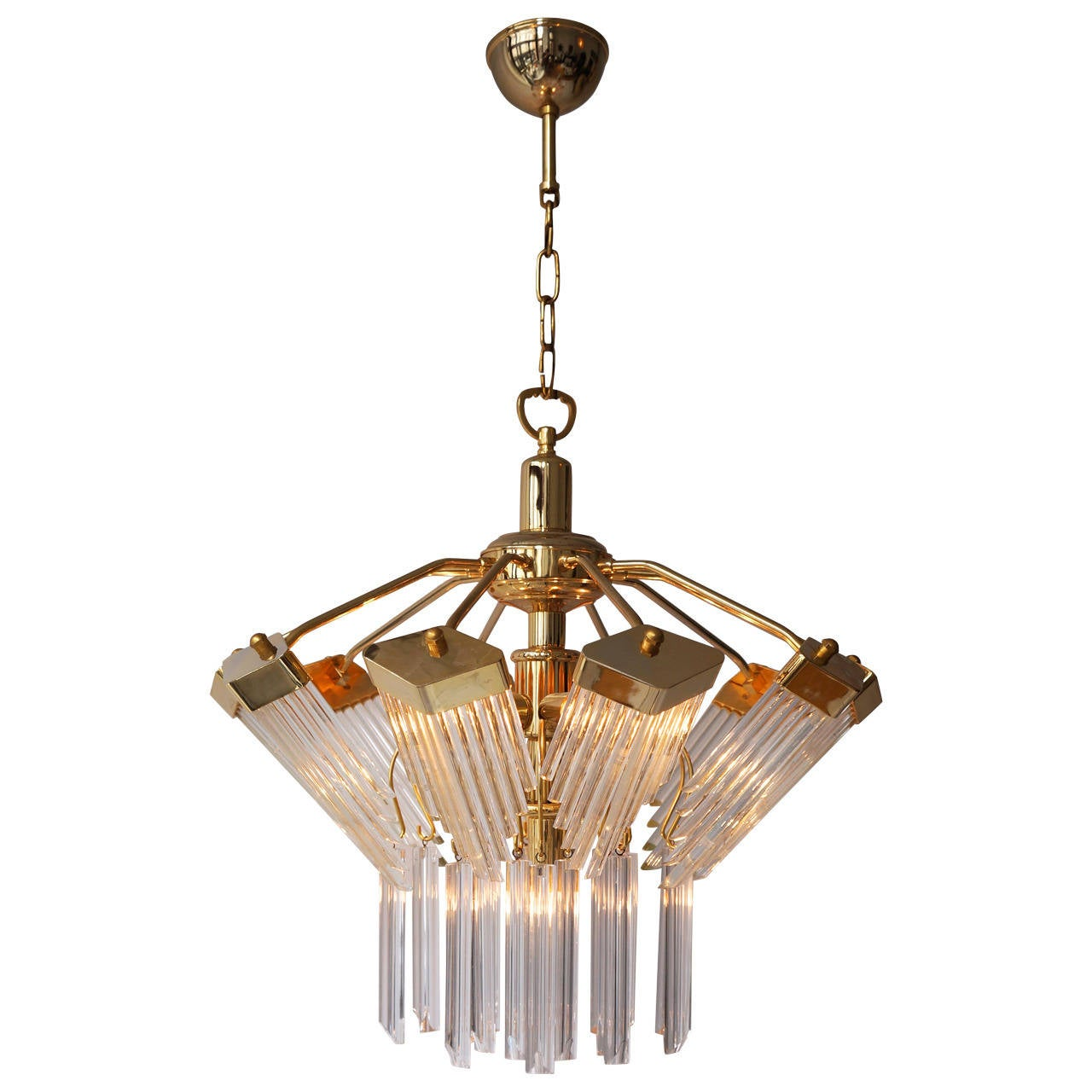 Bakalowits Gold Plated Crystal Chandelier For Sale At 1stdibs