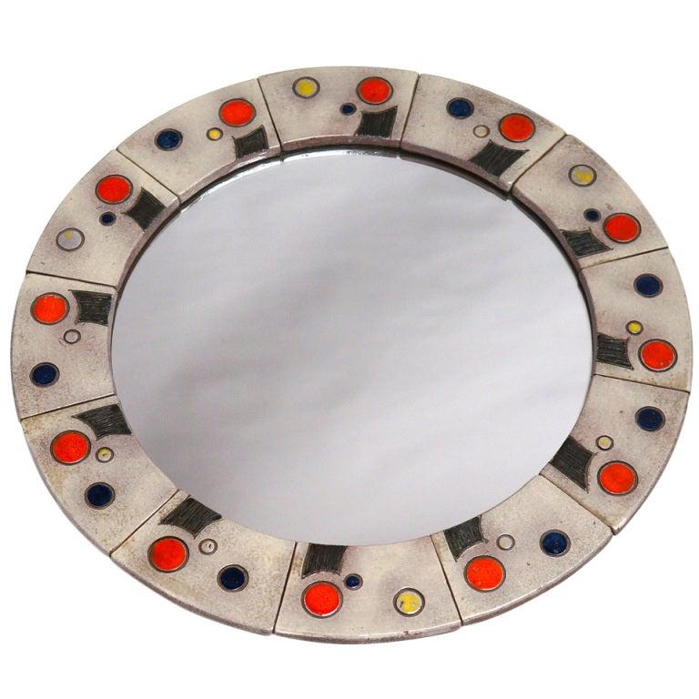 Rare and Unique Mirror by Oswald Tieberghien