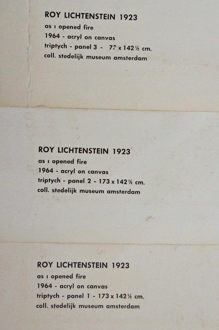 Three Offset Lithographs after Roy Lichtenstein For Sale 2