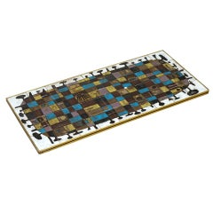Abstract Ceramic Tile Wall Decoration by J Nolf