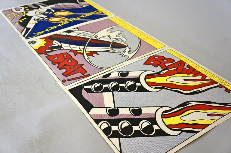 Paper Three Offset Lithographs after Roy Lichtenstein For Sale