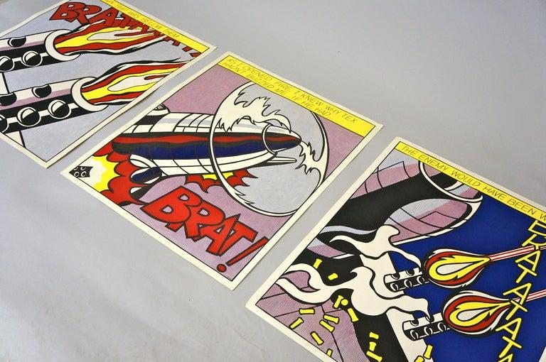 Mid-20th Century Three Offset Lithographs after Roy Lichtenstein For Sale