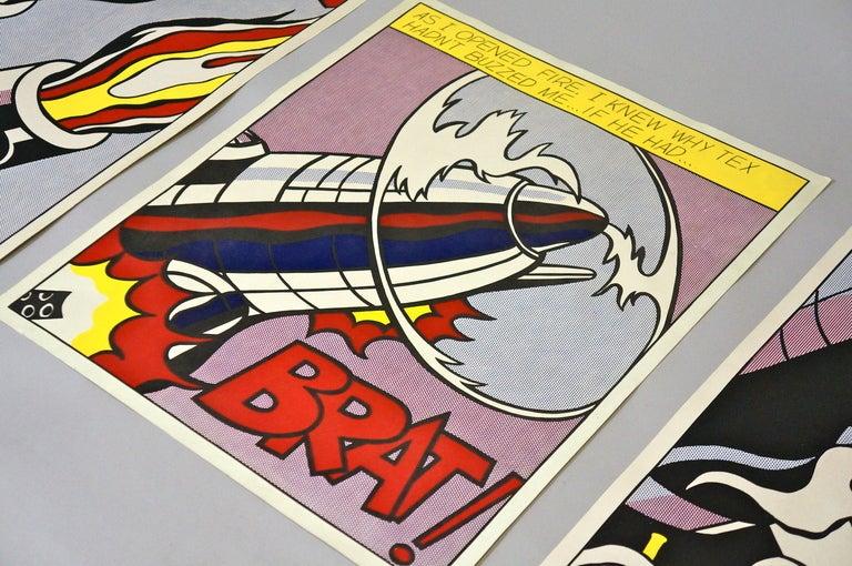 American Three Offset Lithographs after Roy Lichtenstein For Sale