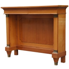 Fine  Cherry Wood 1950s Console