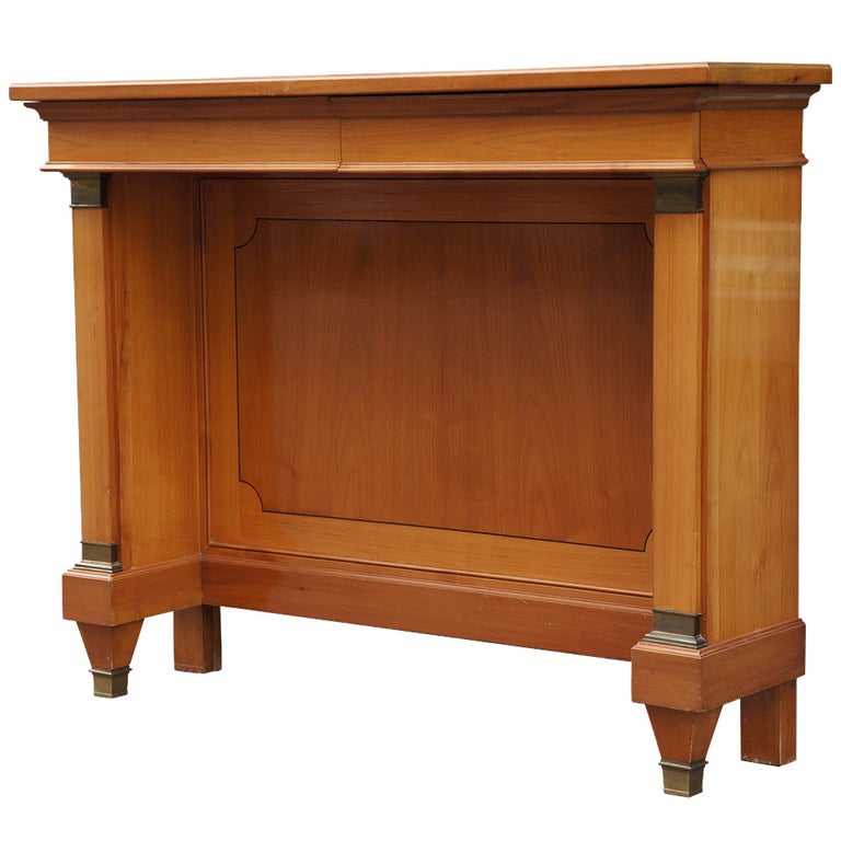 Fine  Cherry Wood 1950s Console For Sale