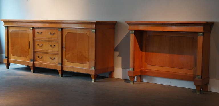 Mid-Century Modern Fine  Cherry Wood 1950s Console For Sale