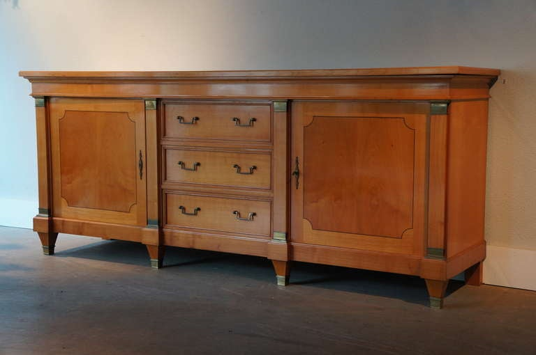 Bronze Fine Mid-Century Cherry Wood Sideboard  For Sale