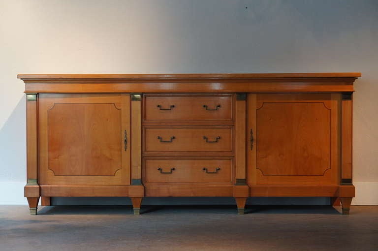 Mid-20th Century Fine Mid-Century Cherry Wood Sideboard  For Sale
