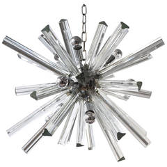 Mid-Century Modernist Murano Glass Rod Sputnik Chandelier