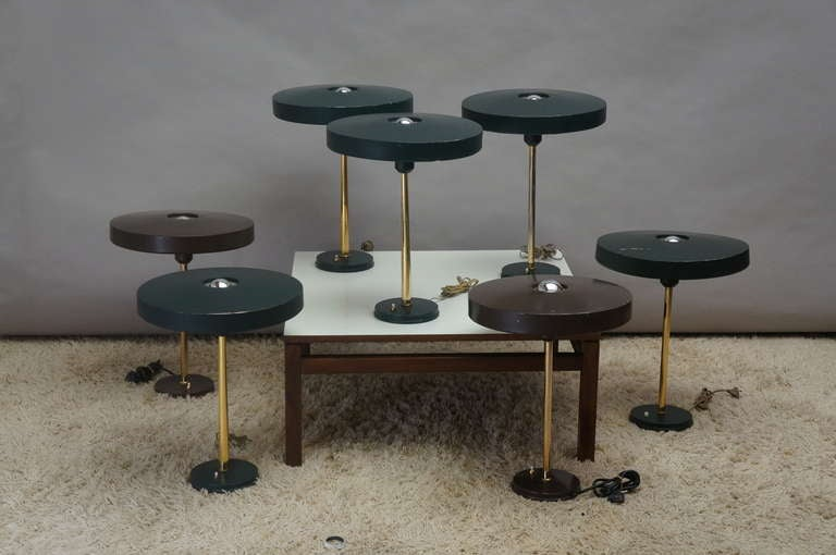 Seven Louis Kalff Table or Desk Lamps for Philips For Sale ...