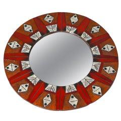 Ceramic Mirror By Oswald Tieberghien
