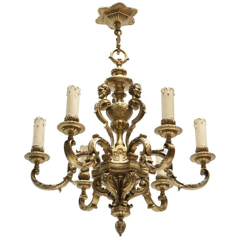 Spectacular Solid Bronze Chandelier
