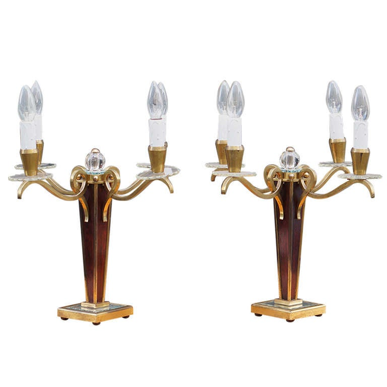 Pair of French Art Deco Table Lamps For Sale