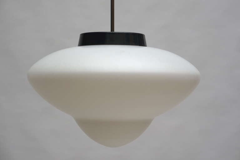 One Industrial Chandelier by the Famous Dutch Company Gispen For Sale 4