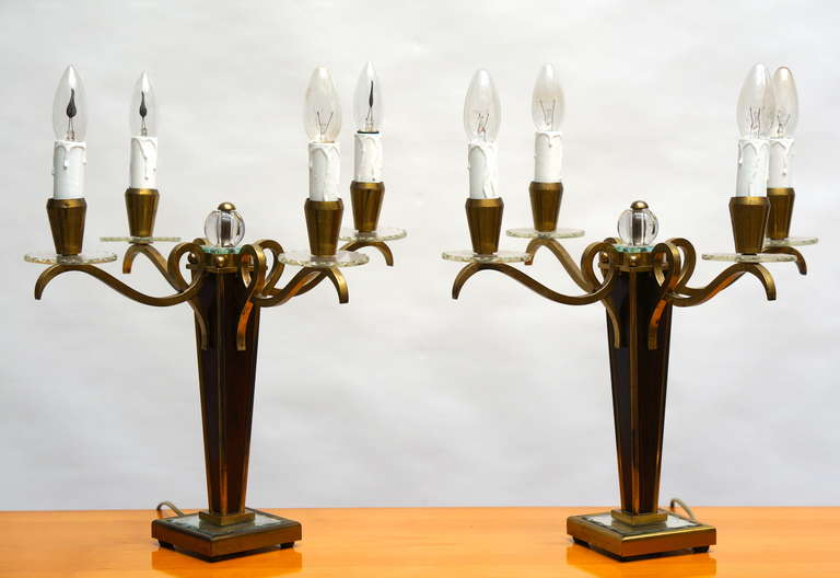 Pair of French Art Deco Table Lamps In Good Condition For Sale In Antwerp, BE