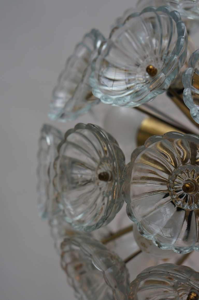 Brass Sputnik Chandelier For Sale
