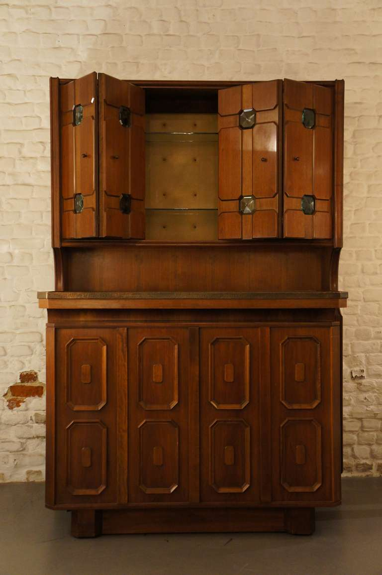 Late 20th Century Stunning Italian Bar Cabinet For Sale