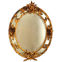 French Late 19th Century Rococo Wall Mirror