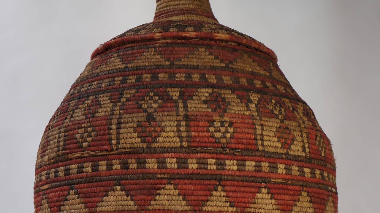 Impressive and Seldom Nigerian Large Basket Garment and Cover For Sale 3