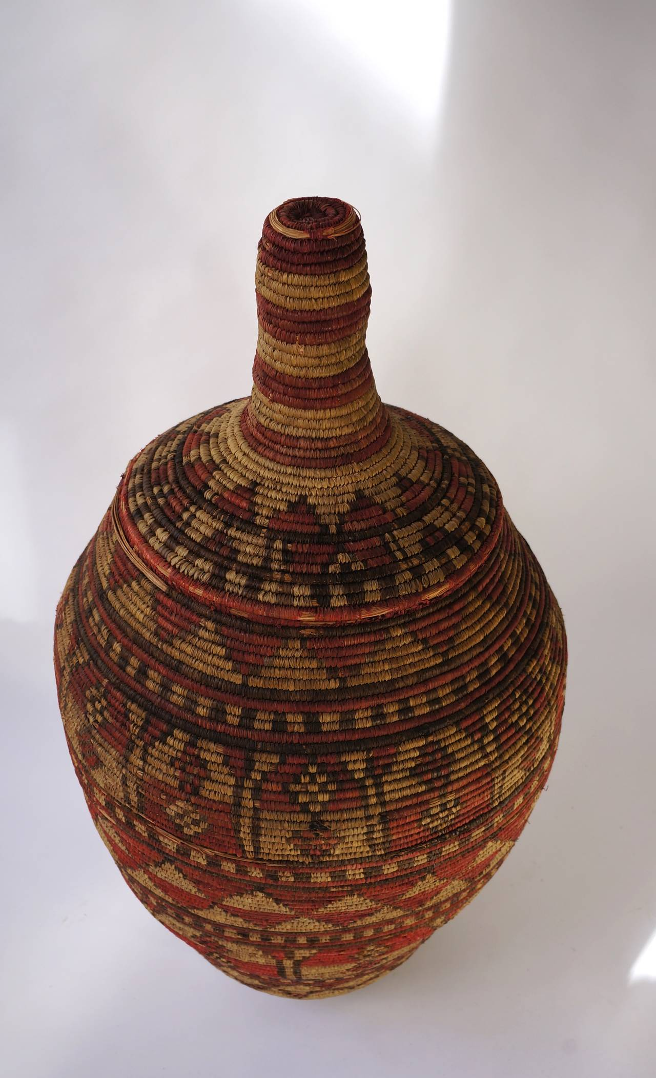 Impressive and Seldom Nigerian Large Basket Garment and Cover For Sale 2