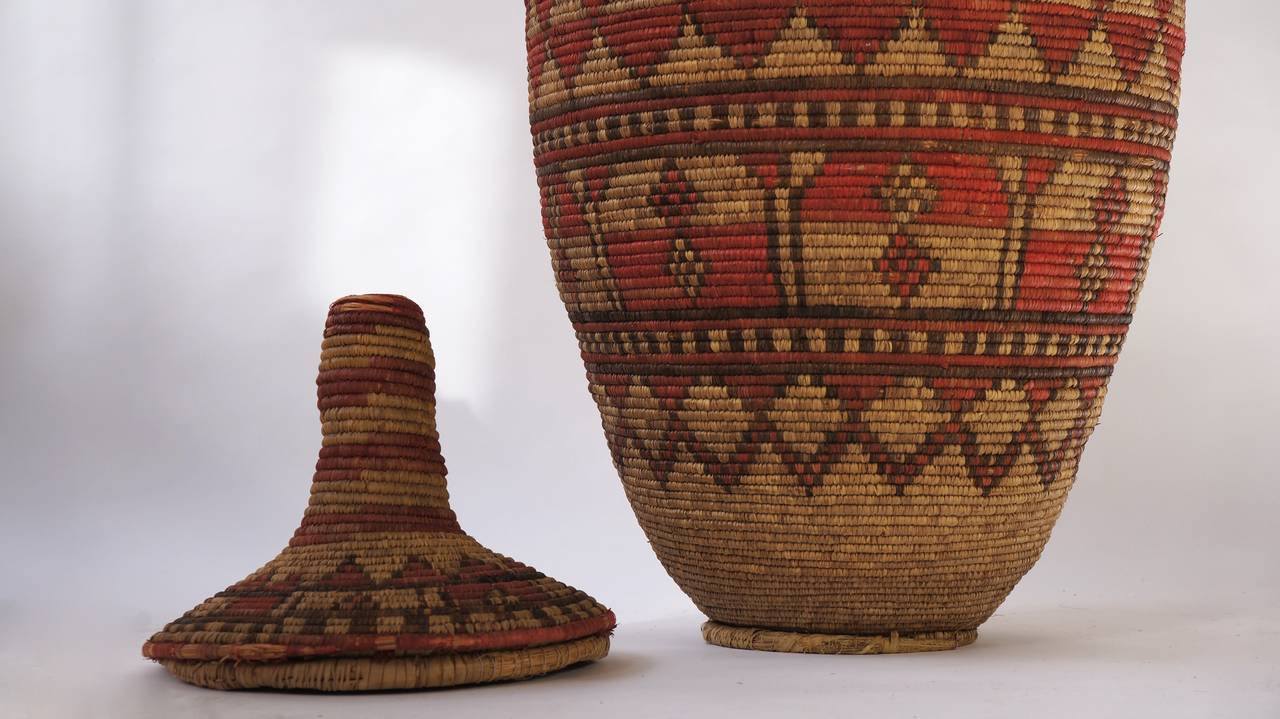 Impressive and Seldom Nigerian Large Basket Garment and Cover For Sale 4