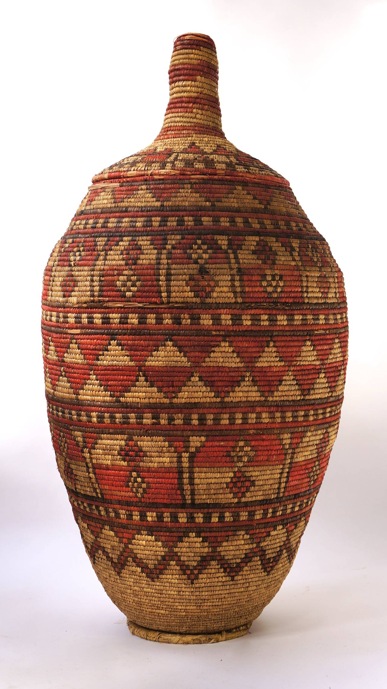 Mid-Century Modern Impressive and Seldom Nigerian Large Basket Garment and Cover For Sale