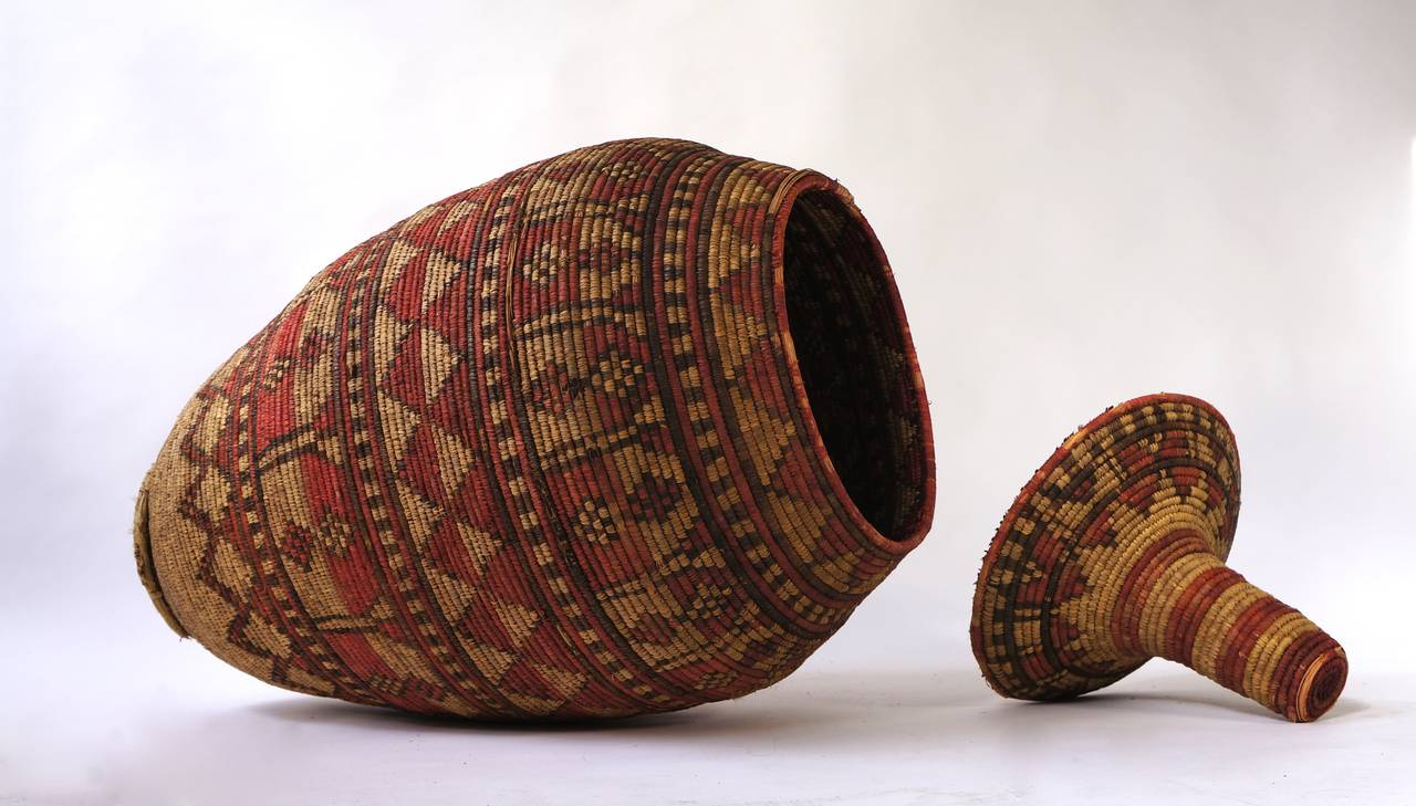 Impressive and Seldom Nigerian Large Basket Garment and Cover For Sale 1
