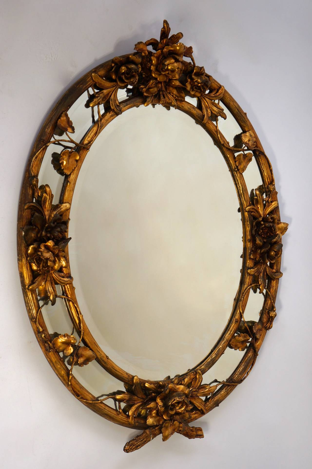 Hollywood Regency French Late 19th Century Rococo Wall Mirror For Sale