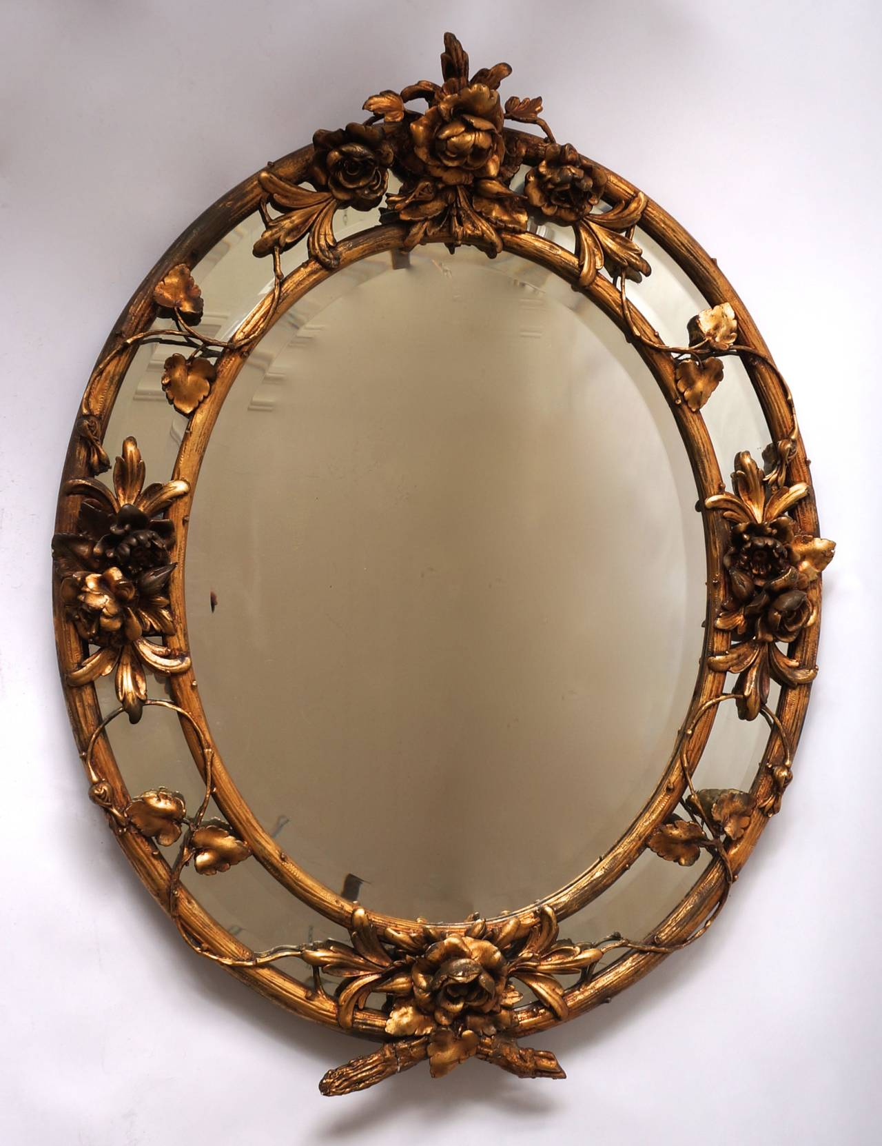 French Late 19th Century Rococo Wall Mirror For Sale 2