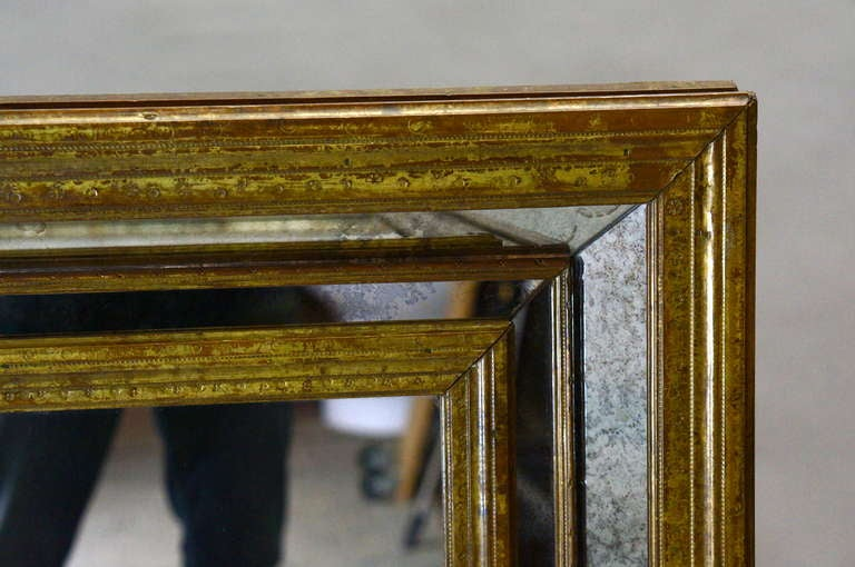 Mid-Century Modern Large Copper Mirror For Sale